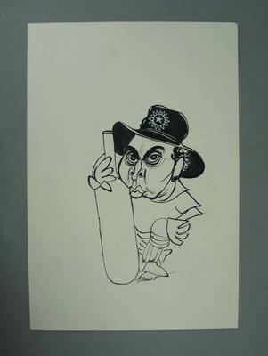 Caricature of Sunil Gavaskar, drawn by Tanner