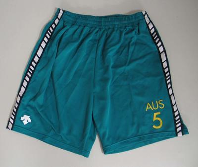 Shorts, Australian team uniform, 2001 East Asian Games, Osaka