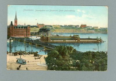 Postcard, image of baths at Stockholm, Sweden