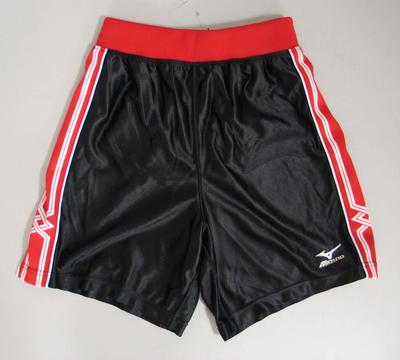Basketball shorts associated with the Wisconsin women's basketball team, 2001