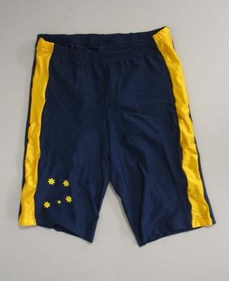 Lycra shorts, Australian team uniform, 2001 East Asian Games, Osaka