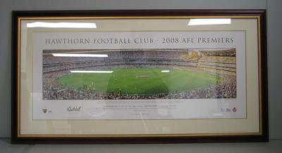 Panoramic photo, 'Hawthorn Football Club - 2008 AFL Premiers'; Photography; M16700.1