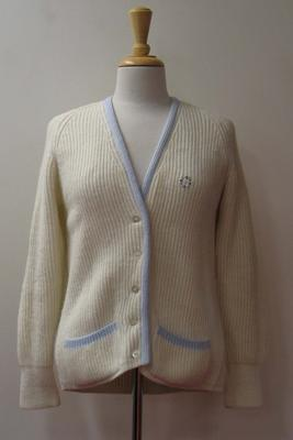 Woollen cardigan worn by Judy Dalton at Wimbledon, 1965.