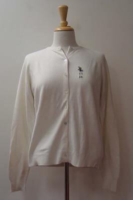 Tinling 'Virginia Slims' cardigan worn by Judy Dalton