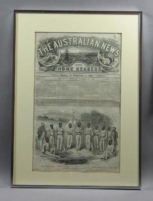 "Print, ""The Aborigine Cricketers"" - 27 Dec 1866"