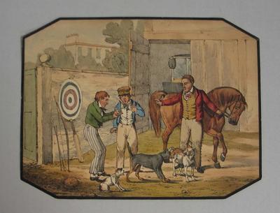 Colour print of an English rural scene