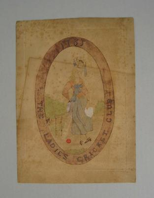 Etching, 'The Ladies Cricket Club', 1785