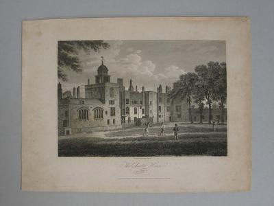 Print, 'The Charter House, London', 1804.