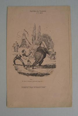 Engraving, 'The Cricket Match'