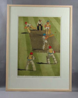 "Print, ""Hook to the Boundary"" by James Willebrant - 1984"