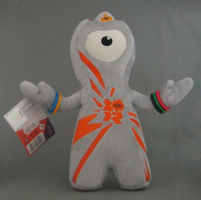 Plush toy, 2012 London Olympic Games plush toy mascot, 'Wenlock'