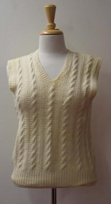 Sleeveless sweater vest worn by Patricia Thomson, c.1950s-1960s