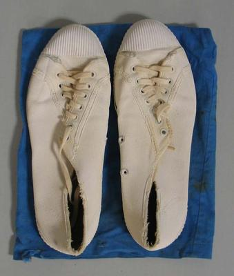 Cricket shoes worn by Patricia Thomson, c.1950s-1960s
