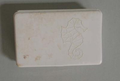 Plastic soap container used by Patricia Thomson, c.1950s-1960s