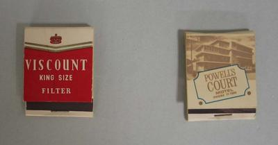 Matchbooks associated with Patricia Thomson, c.1950s-1960s