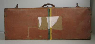 Leather suitcase used by Patricia Thomson, c.1950s-1960s