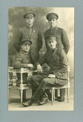 Postcard, image of military group c1916