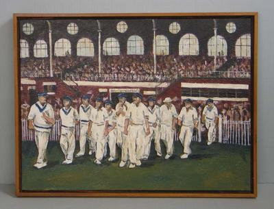 "Study, ""Melbourne Cricket Club Team of the Century"" by Martin Tighe, 2004"