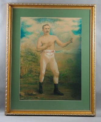 Photograph print of Australian heavyweight boxing champion Joe Goddard c.1891