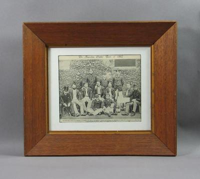 Photograph of Australian cricket team, 1882; Artwork; Framed; 1990.2372