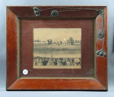 Print, All England XI v Victoria XVIII cricket match at MCG on Boxing Day 1874