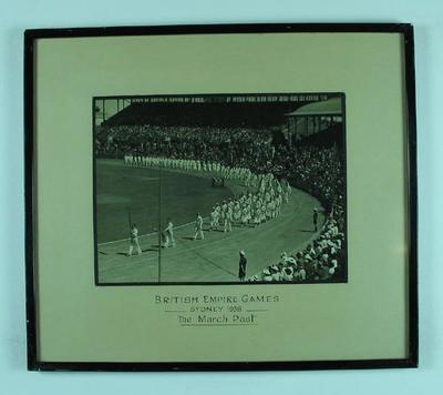 Photograph, 1938 British Empire Games