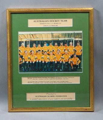 Photograph of Australian men's hockey team, 1986 FIH World Cup