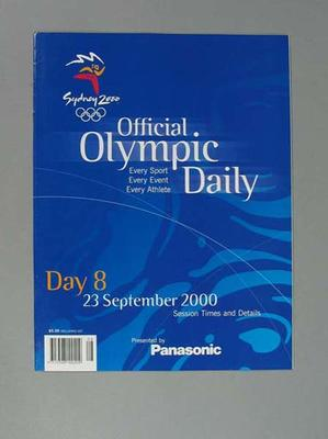 Programme, Sydney 2000 Olympic Games - Day 8