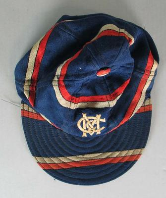 Melbourne Cricket Club Baseball Section cap worn by Colin Miller