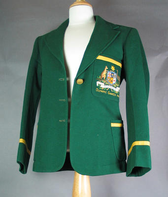 Australian team blazer, worn by Shirley Strickland at 1948 Olympic Games