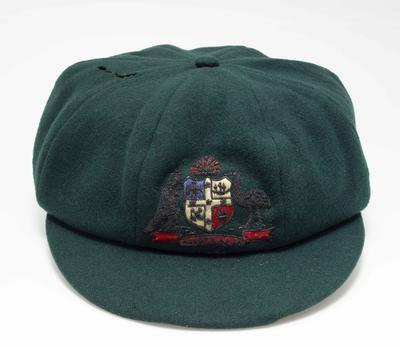 Baggy green cap worn by Bill Ponsford, 1934