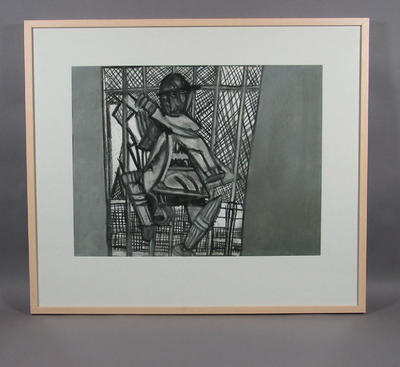 """Drawing, """"Allan Border"""" by Valerio Ciccone"""