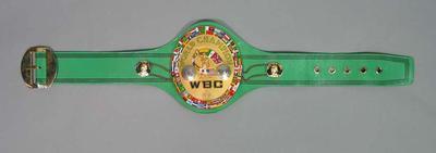 The World Boxing Council's World Featherweight Championship Belt
