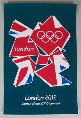 Reproduction of London 2012 Olympics poster