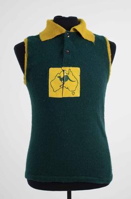 Australian 'Galahs' guernsey worn by Bob Skilton, 1967