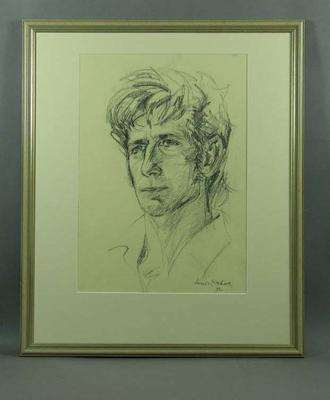 Drawing of Ian Chappell, by Louis Kahan - 1972