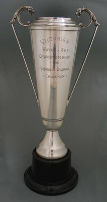 Trophy awarded to Rosemary Margan as Women's Overall Champion, Victorian Water Ski Championship, 1961; Trophies and awards; N2012.21.4