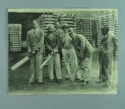 Group photograph of six Indian cricketers, c1926