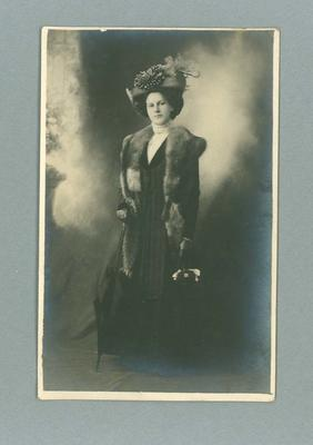 Postcard, image of unknown woman