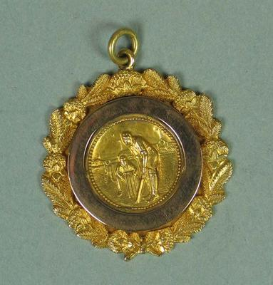 Gold medallion presented to Stan McCabe, 1926-1927