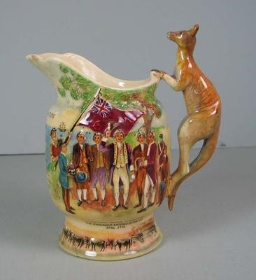 Musical ceramic jug presented to Stan McCabe, 1938