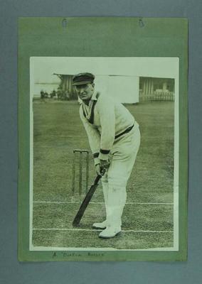 Photograph of Arthur Richardson, in batting stance