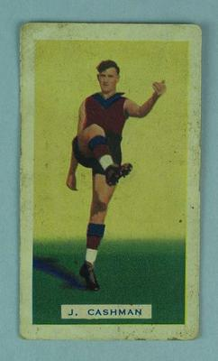 Trade card featuring Jack Cashman c1930s