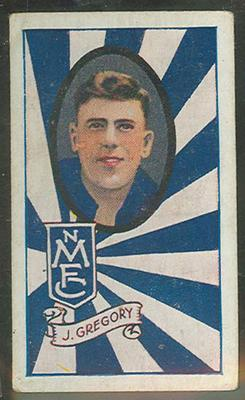 Trade card featuring Johnny Gregory, c1930s
