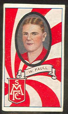 Trade card featuring W Faull, c1930s