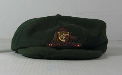 Baggy green cap worn by Bert Ironmonger, 1931