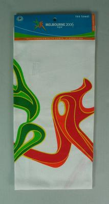 Commemorative tea towel, official merchandise,  2006 Commonwealth Games, Melbourne