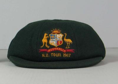 Baggy Green cap worn by Eric Freeman, 1967 tour of NZ