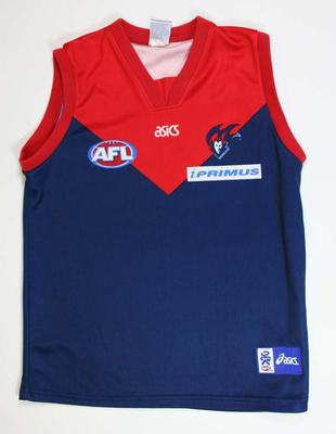 Melbourne Football Club guernsey signed by Jeff White, 2007 season.