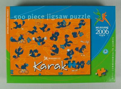 Jigsaw puzzle, official merchandise, 2006 Commonwealth Games, Melbourne; Games and toys; 2013.1.4
